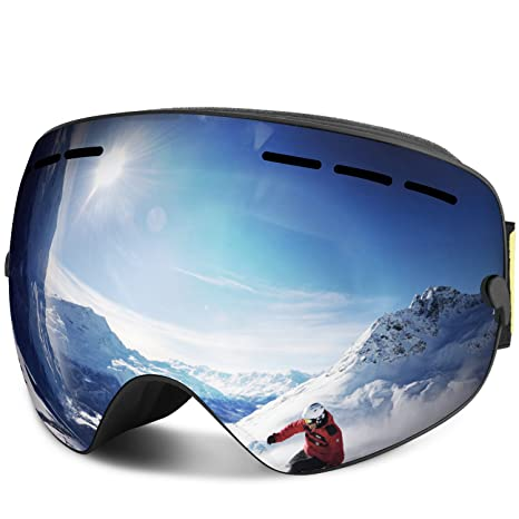 a5d3b3efb3 Amazon.com   FYLINA Ski Goggles OTG Snowboard Snow Goggles with Anti ...