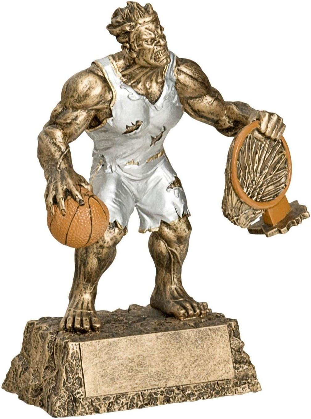 Decade Awards Basketball Monster Trophy - Triumphant Beast Basketball Award -| 6.75 Inch Tall - Customize Now