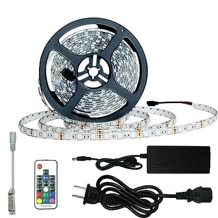 Amazon achivy 164ft led light strip kit 20 colors smd5050 achivy 164ft led light strip kit 20 colors smd5050 300 leds waterproof flexible aloadofball Image collections