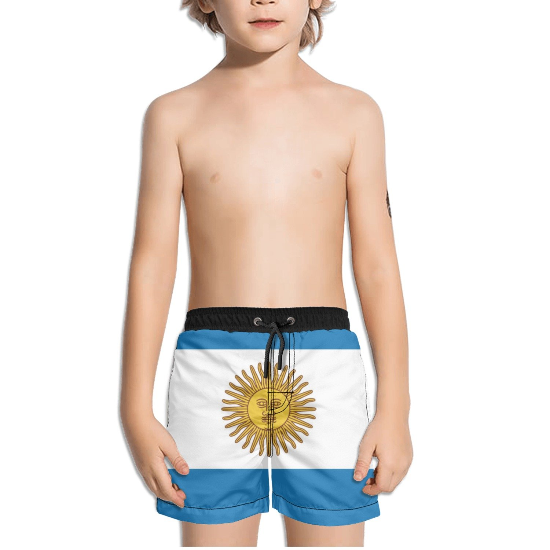 Ouxioaz Boys Swim Trunk Argentina Flag Beach Board Shorts
