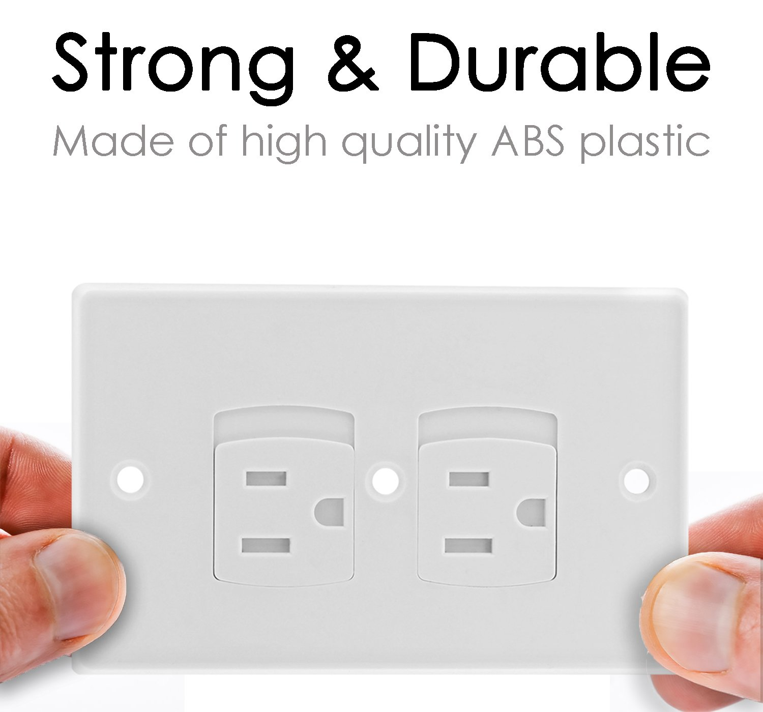 Self Closing Electrical Outlet Covers, Child Proof Safety Universal Wall Socket Plugs, Automatic Sliding Cap Cover Standard Wall Outlet Plate (8 Pack) by Baby Dröm (Image #5)