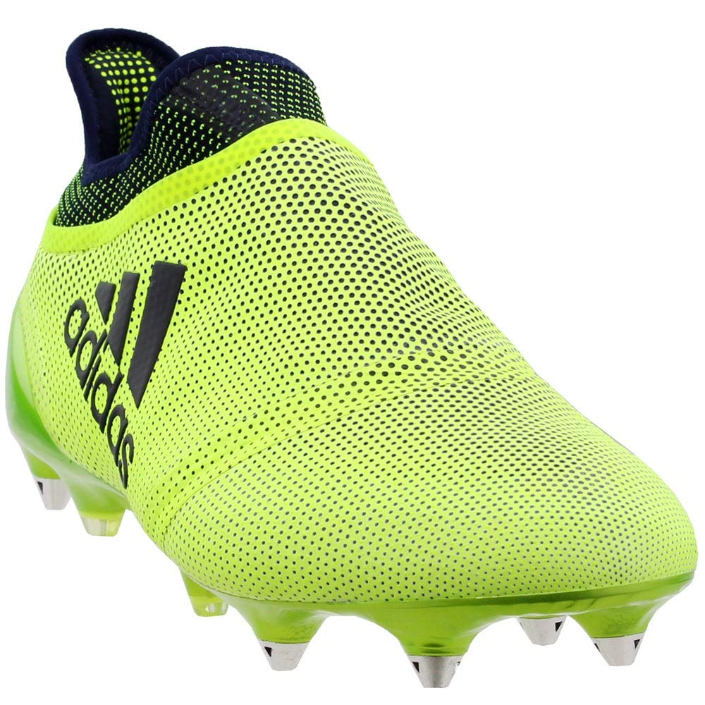 adidas Mens X 17+ Purespeed Soft Ground Soccer Athletic Cleats, Yellow, 7 by adidas