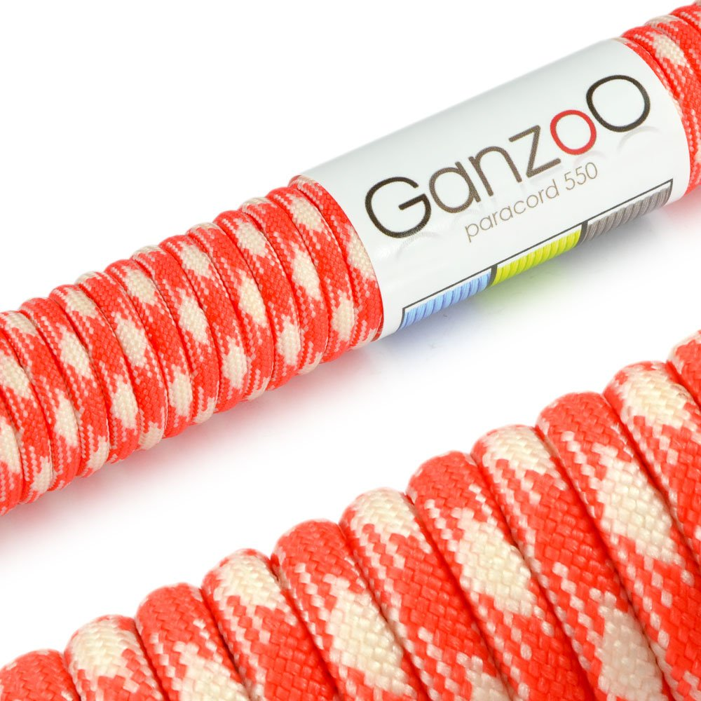 'Universal Survival Rope Made of tear-resistant Parachute Cord/Paracord 550 Core Rope Nylon, 550lbs, Total Length 31 Meters (100 ft) Color: Camouflage - Brand Ganzoo by Ganzoo #5011ca3