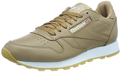 61d2e96fd27 Reebok Men s Cl Leather Mu Gymnastics Shoes White  Amazon.co.uk ...