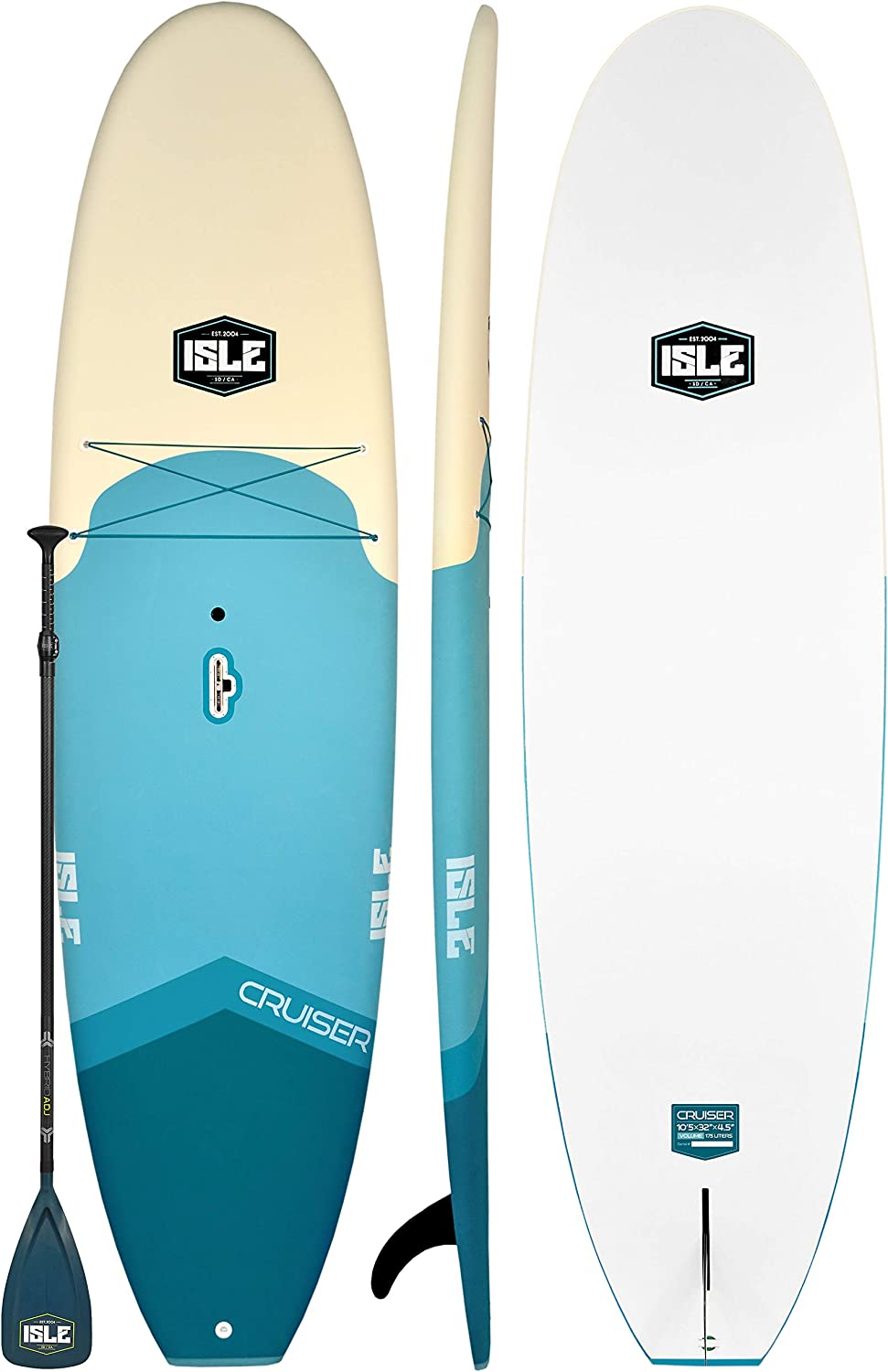 """ISLE 105 Cruiser Rigid Soft Top Paddle Board Package 