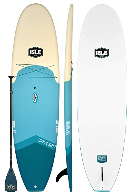 """7ace283b27a7 ISLE Cruiser Soft Top Stand Up Paddle Board (4.5"""" Thick) SUP Package"""