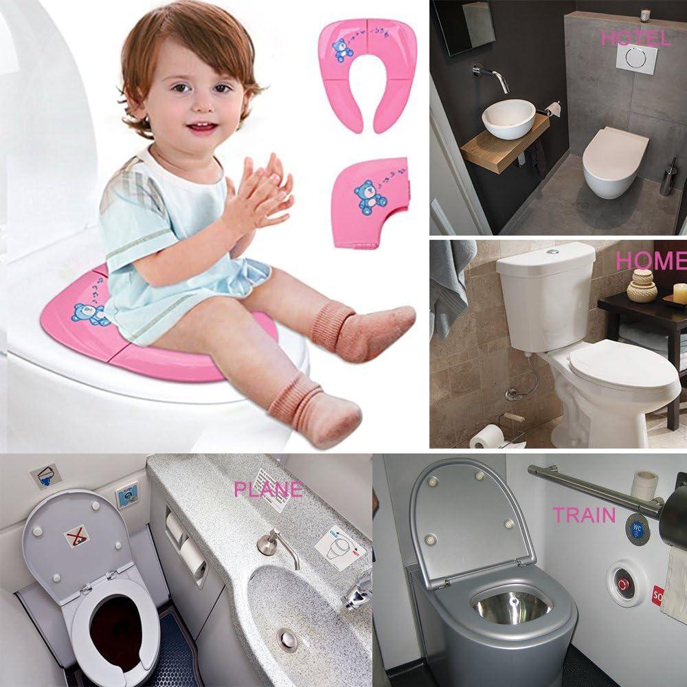 Jaetech House Adaptador WC Ni/ños Plegable Asiento Inodoro Port/átil Beb/és Tapa WC para Viaje