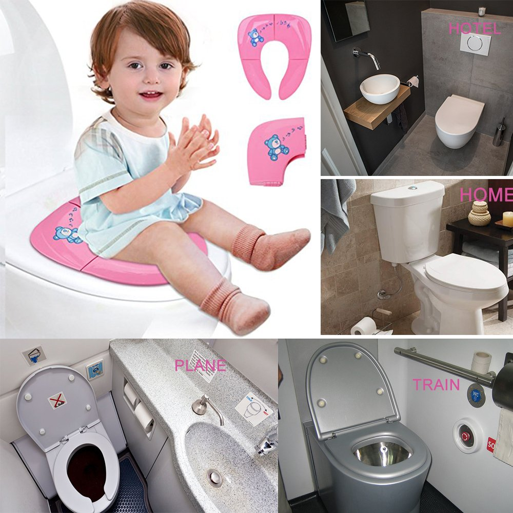 Jaetech House Adaptador WC Niños Plegable Asiento Inodoro Portátil Bebés Tapa WC para Viaje: Amazon.es: Hogar