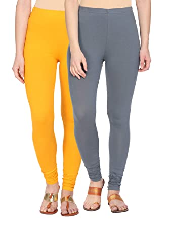 685f06af4e Alena Cotton Lycra Womens Churidar Length Gold/Grey Color Leggings:  Amazon.in: Clothing & Accessories
