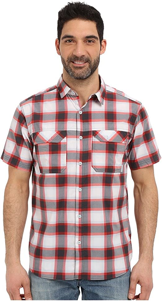 Columbia Mens Royce Peak II Plaid Short Sleeve Shirt Columbia Sporting Goods