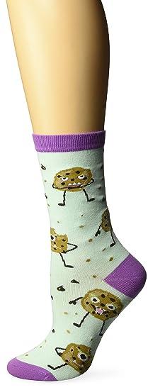 1c2a5eacb9537 Amazon.com: K. Bell Women's Cookie Monster Crew Socks, blue Shoe ...