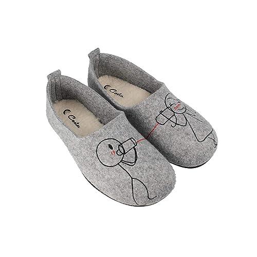 Costa H2992-4, Zapatillas de Estar por casa para Mujer, (Gris 18), 36 EU: Amazon.es: Zapatos y complementos
