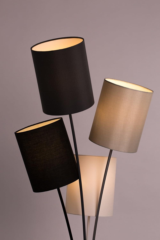 Moderne Designer Stehlampe Mit 4 Lampenschirmen In Weiss Grau Schwarz Und Beige
