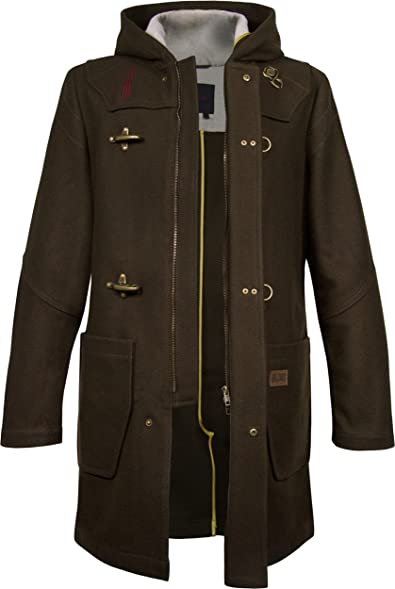 Musterbrand Diablo Men Duffle Coat Wanderer Brown at Amazon Men's ...