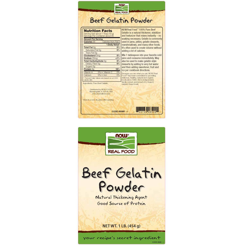 Beef Gelatin, Unflavoured, Powder, 1 lb (454 g): Amazon.es ...