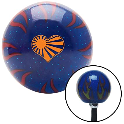 American Shifter 148854 Black Retro Shift Knob with M16 x 1.5 Insert Orange Cartoon Skull /& Bones