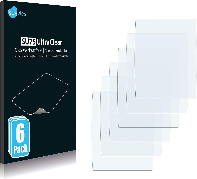 savvies Protector Pantalla Compatible con Garmin echoMAP 50s (6 Unidades) Pelicula Ultra Transparente