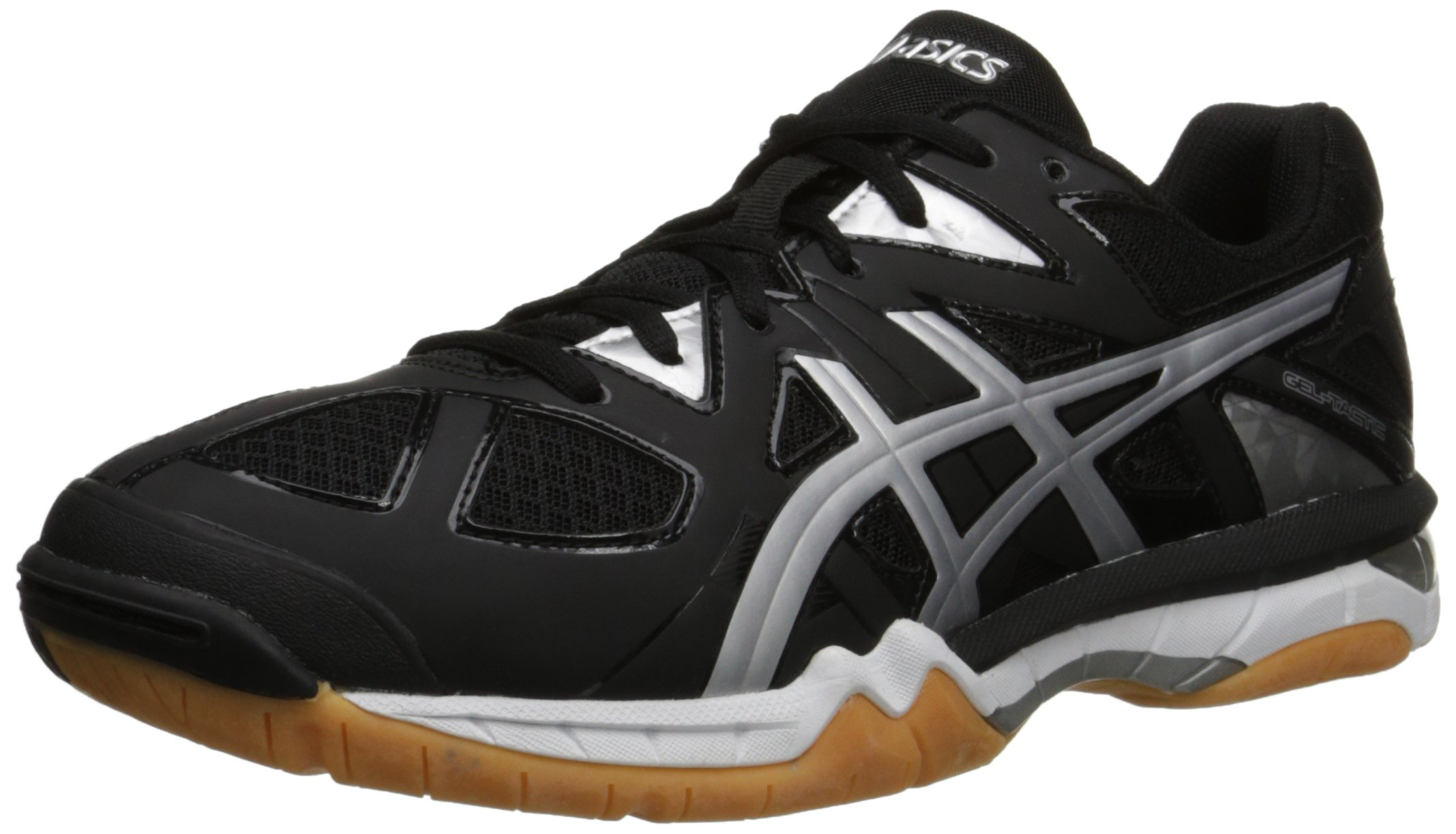 ASICS Men's Gel-Tactic Volleyball Shoe, Black/Onyx/Silver, 6.5 M US