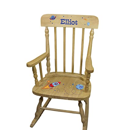 Amazoncom Personalized Wooden Rocketship Rocking Chair Kitchen
