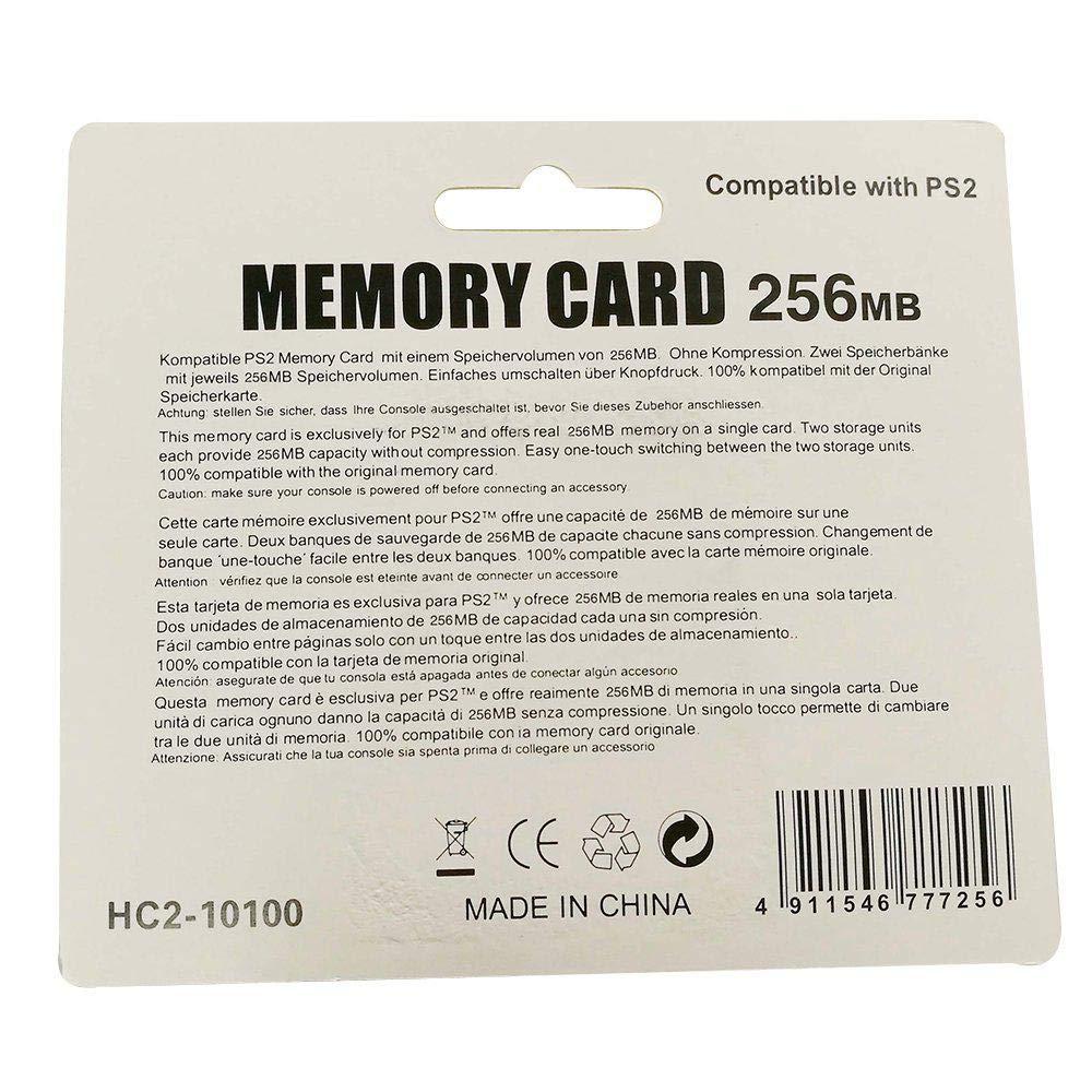 LayOPO 32/128/256MB PS2 Tarjeta de Memoria PS2 Tarjeta SD ...