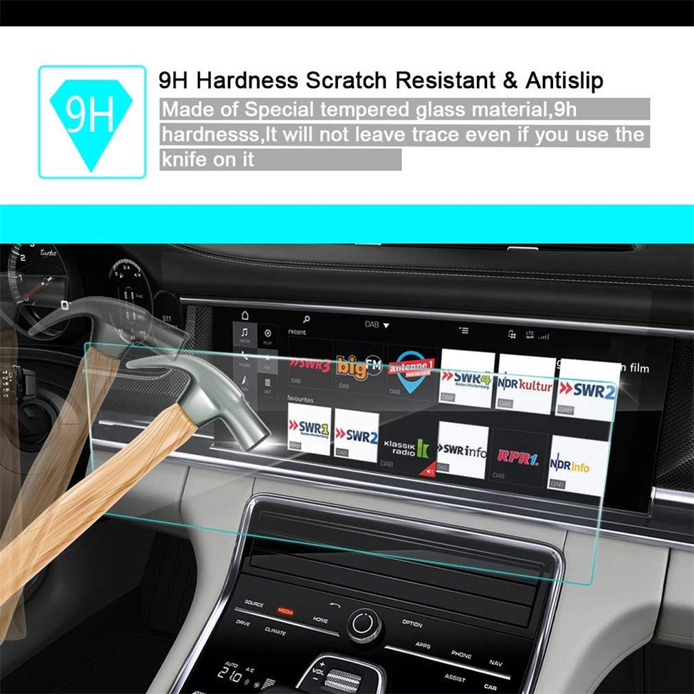 Car Navigation Screen Protector 9H Center Control Touchscreen Anti-Scratch Tempered Glass Clear Touch 0.3mm HD for Nissan X-Trail 2012 2013 2014 2017 2014 2015 2016 7Inch 155/×81mm