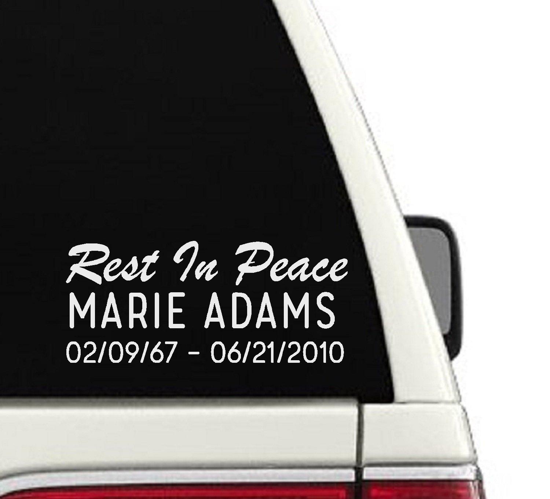 Amazon com rest in peace custom car decal cd62 handmade
