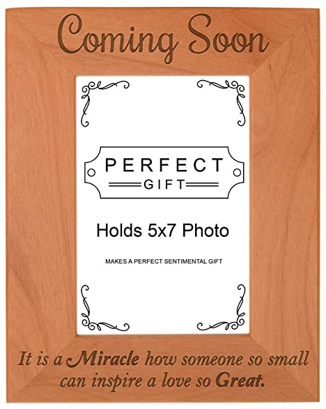 Amazon.com - Baby Shower Gift Coming Soon Ultrasound Natural Wood ...