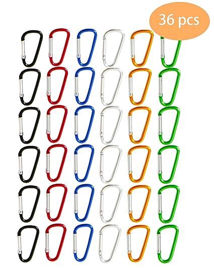 Amazon.com: SBYURE Paquete de 36 ganchos de aluminio con ...