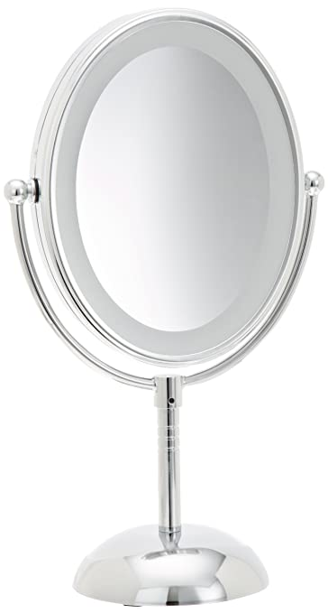 Amazon conair oval shaped led double sided lighted makeup conair oval shaped led double sided lighted makeup mirror 1x7x magnification mozeypictures Gallery