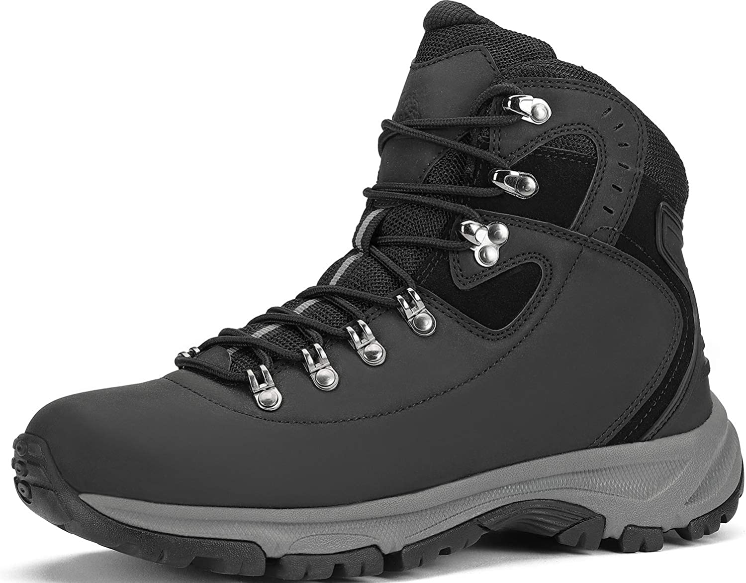 Hiking Boots Men Waterproof Lightweight Trekking Shoes High-Traction Grip Breathable