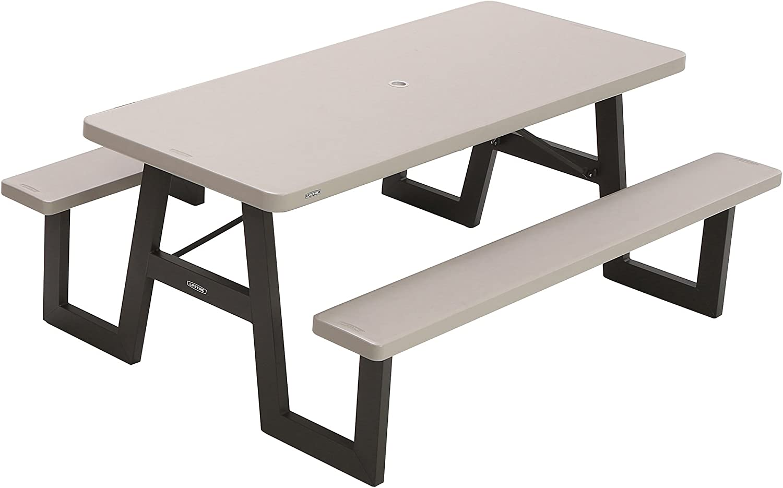 - Amazon.com : Lifetime 60030 W-Frame Folding Picnic Table, 6 Feet