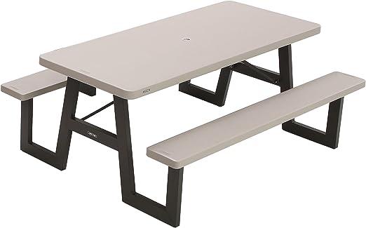 Lifetime 60030 Table de Pique-Nique Pliante Gris 1,83 m ...