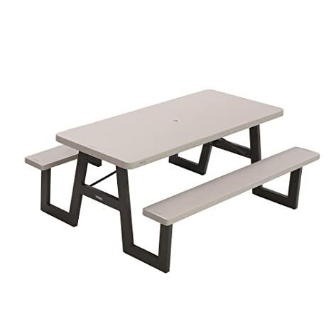 Superb Lifetime 6 Ft 1 83 M Frame Picnic Folding Table Grey Onthecornerstone Fun Painted Chair Ideas Images Onthecornerstoneorg