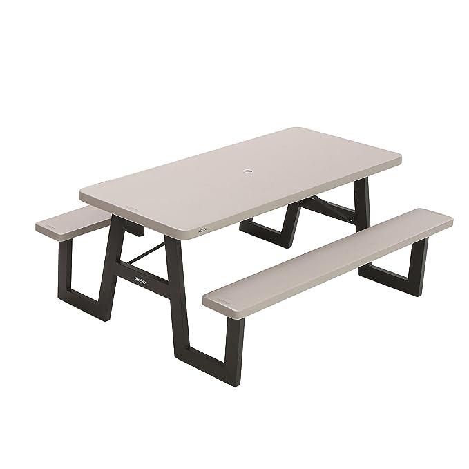 Amazon.com: Lifetime, mesa para picnic plegable, 6pies ...
