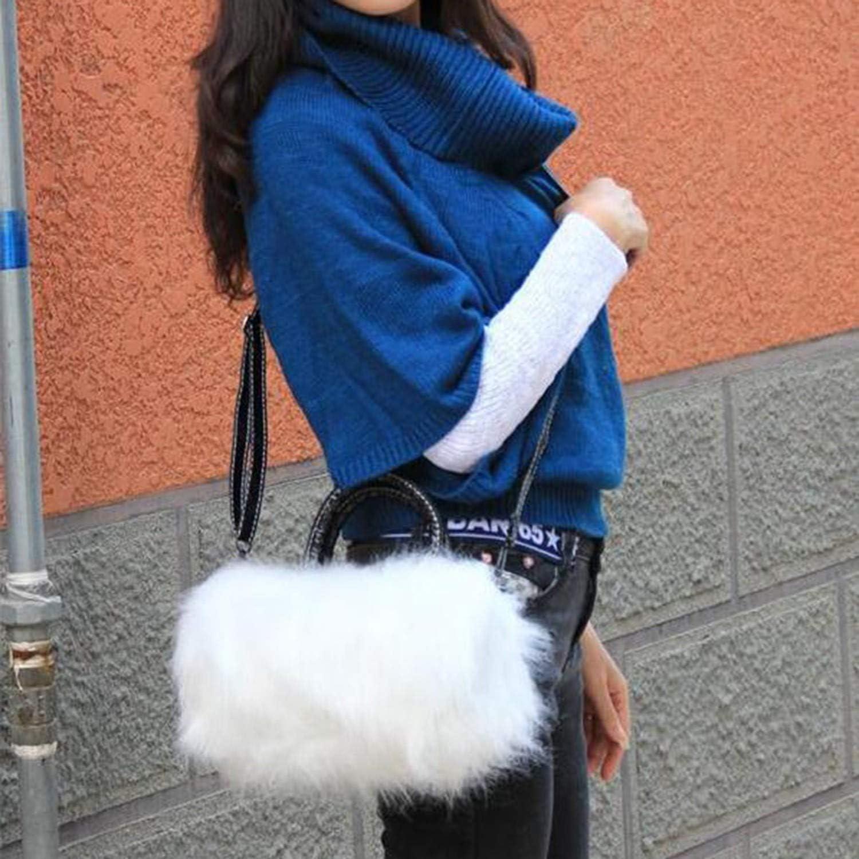 Faux Rabbit Fur Handbags Women Bag Female Mini Crossbody Messenger Bag Winter Ladies Tote Bags