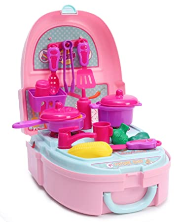 Buy Barbie Kitchen Toy Set Online At Low Prices In India Amazon In