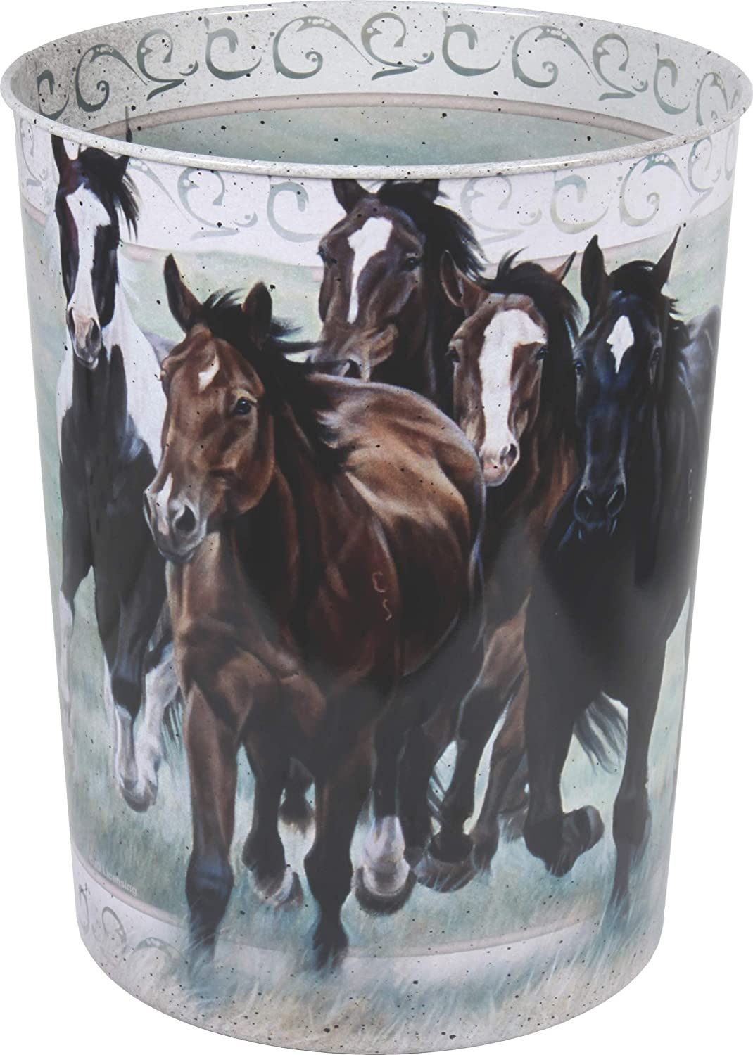 Rivers Edge Products Horse Themed Waste Basket River' s Edge Products 1578