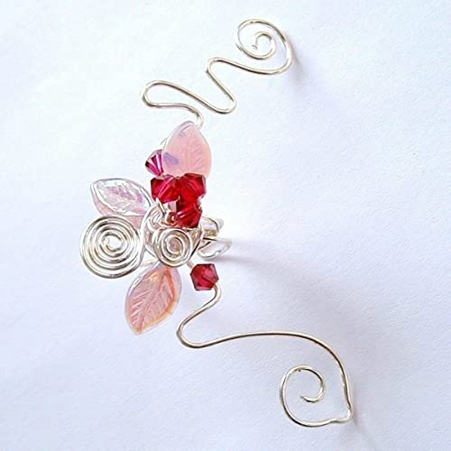 Long Butterfly Earrings of the Fairy of Cherry Blossom