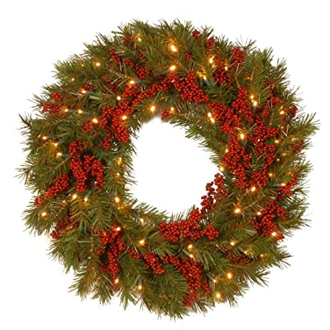 Image Unavailable - Amazon.com: Holiday Home Pine Berry Indoor Outdoor Lighted Pre Lit