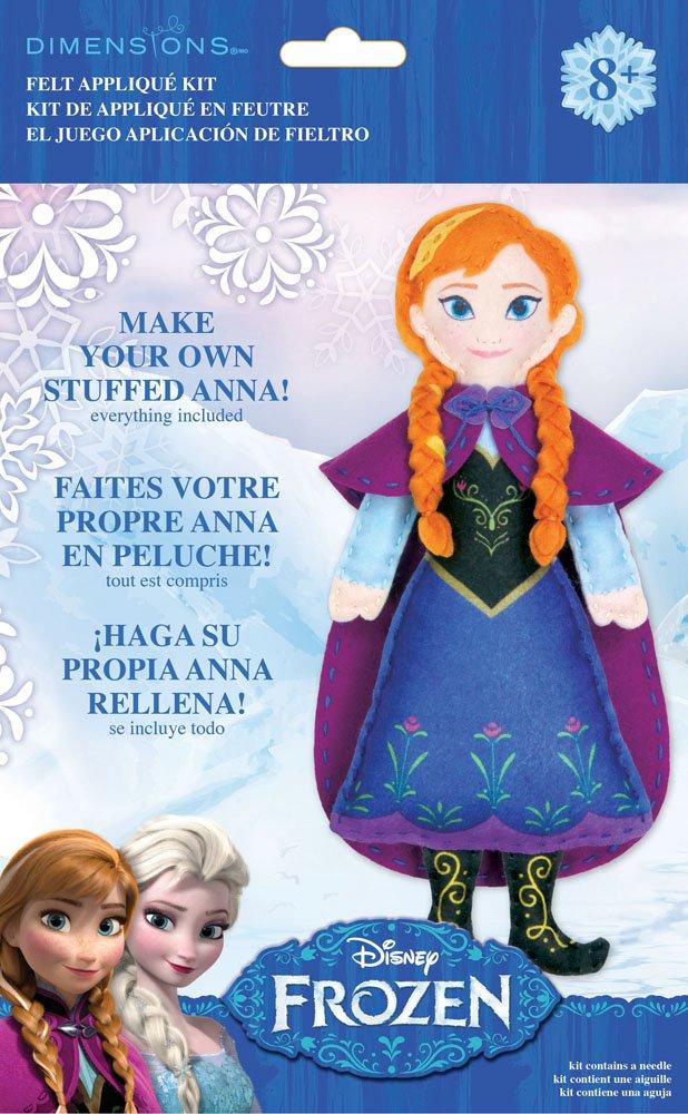 Amazon.com: Dimensions Needlecrafts 72-74477 Disney Frozen Anna Felt Applique Kit