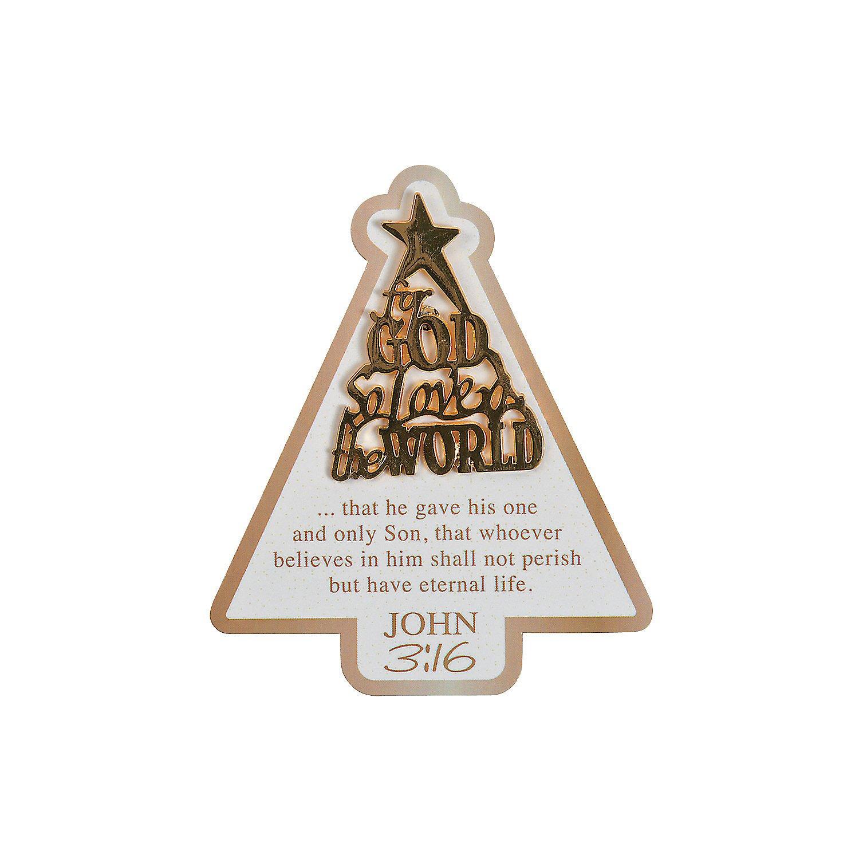 Amazon.com: John 3:16 Christmas Tree Pins on Card: Health & Personal ...