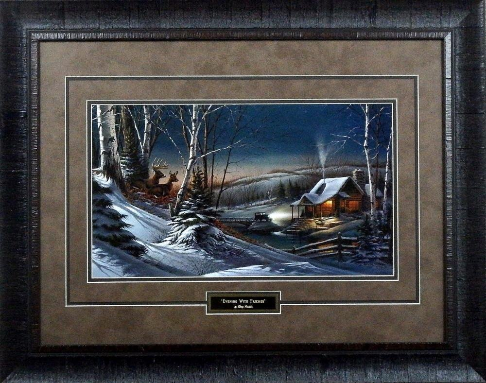 Terry Redlin Evening with Friends Framed Print by Peck and Gartner