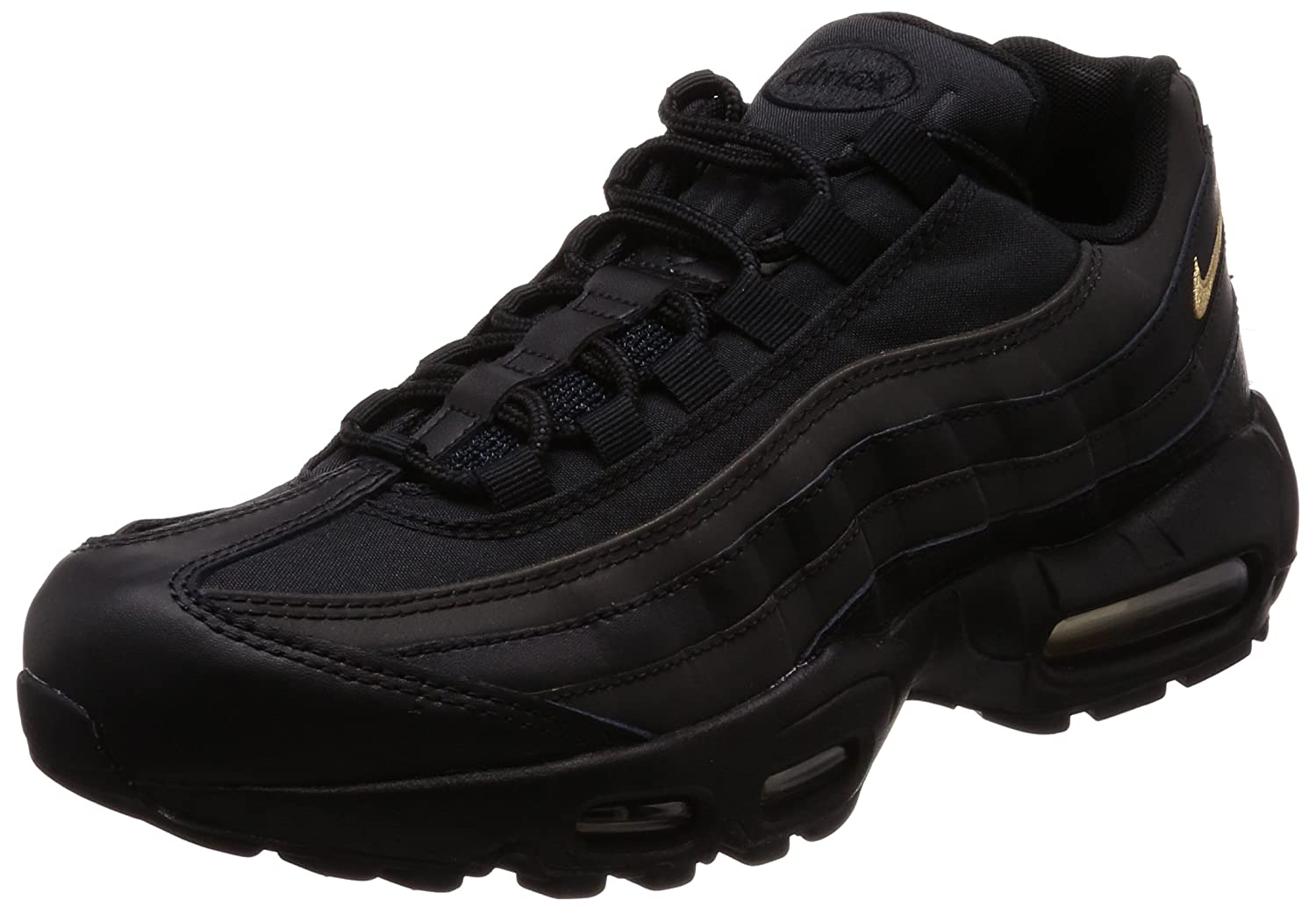 san francisco 3266b 5e45a Amazon.com   Nike Men s Air Max 95 Premium SE Black Metallic Gold 924478-003    Basketball