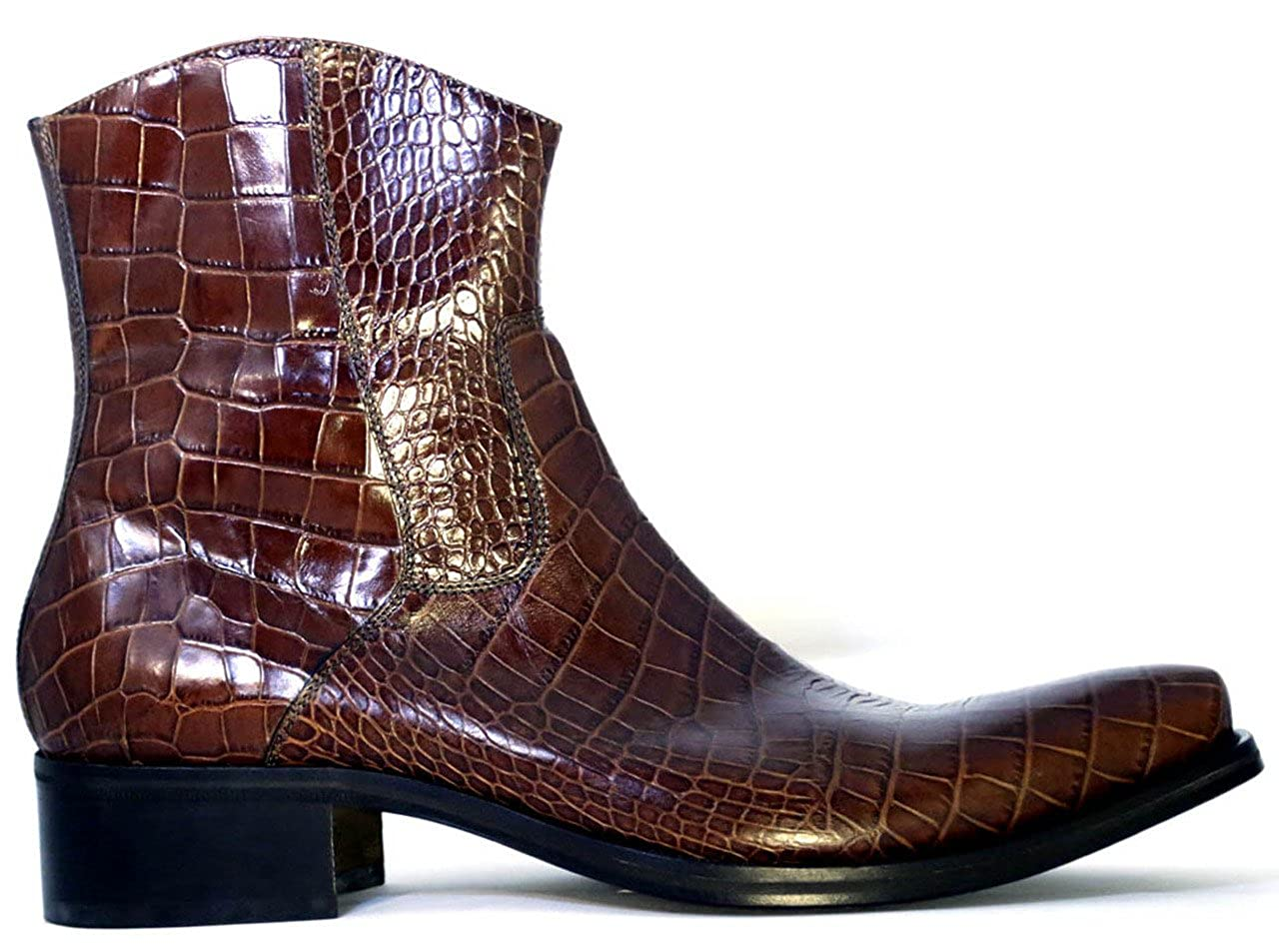 Whisky Nex technicol 20504 Men's Italian Alligator Print Leather