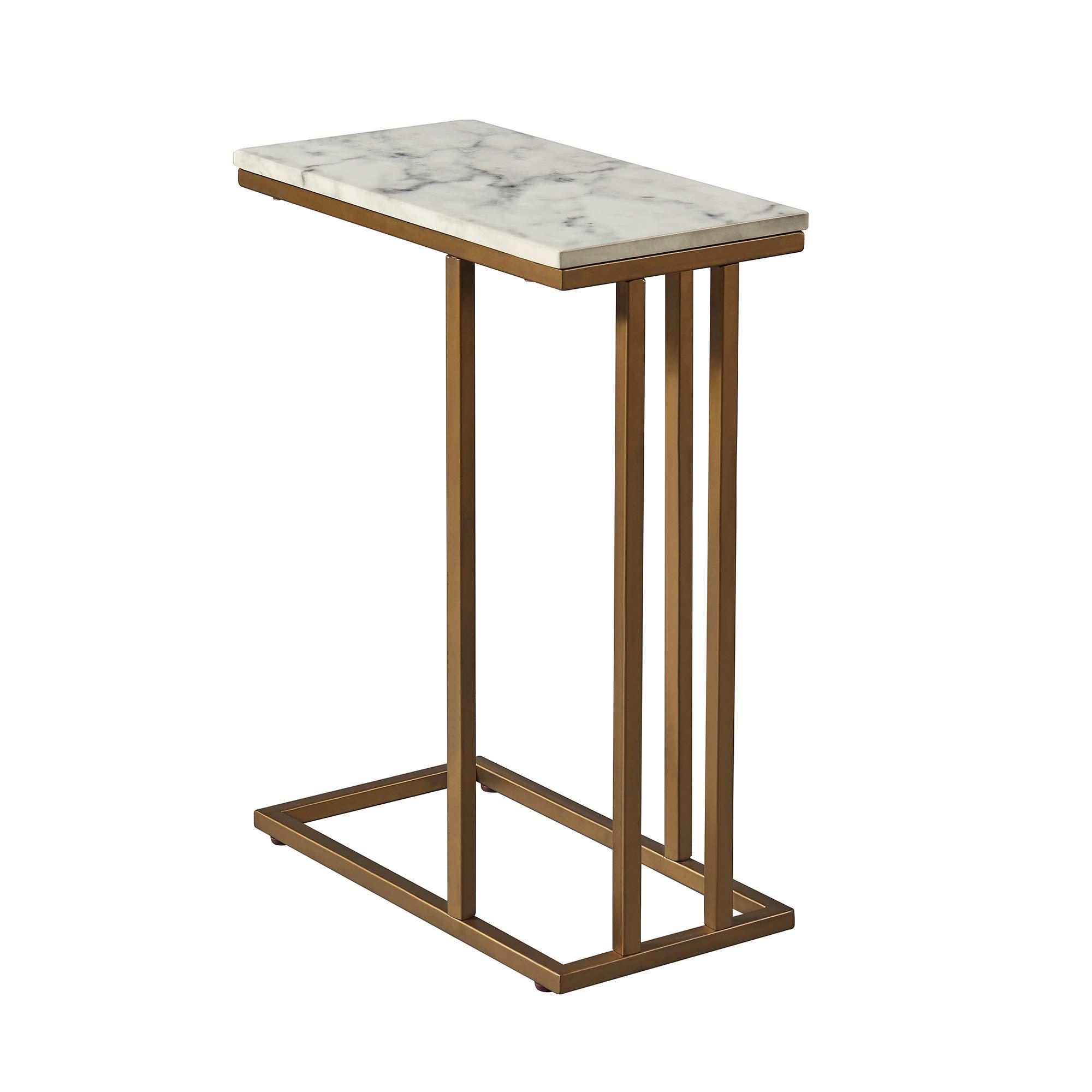 Versanora - Marmo C Shape Table - Faux Marble /Brass by Versanora (Image #6)