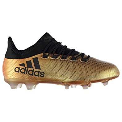 6b4d473962e8 Adidas X 17.2 FG Firm Ground Football Boots Mens Gold/Black Soccer Shoes  Cleats