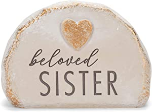 Grasslands Road Beloved Sister Bereavement Rock - Memory Rocks - Memorial Rocks - Memorial Rock, Resin, 4 1/2 by 6 by 4 Inches