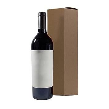 Amazon.com: Vino y licores Natural Kraft Caja de Regalo – 6 ...
