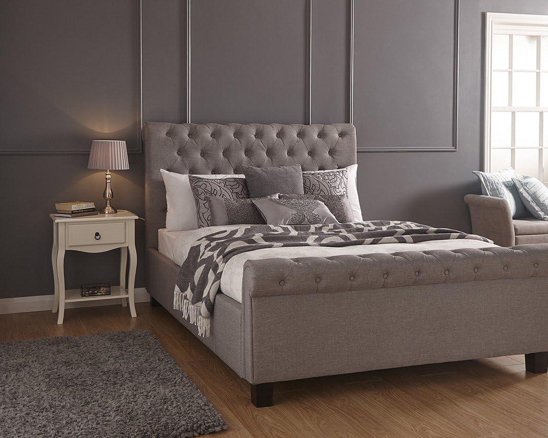 GB Furniture Layla otomana Tela de cáñamo para somier Lado ...