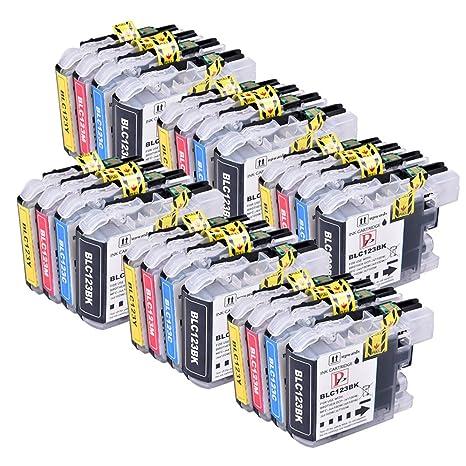 24 Compatible LC123/LC121 cartuchos de tinta para Brother DCP-J132 ...